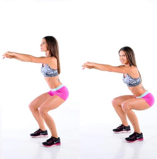 как приседать для похудения ног